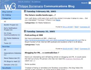 IBM internal blog